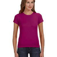 Anvil Ladies' 1x1 Baby Rib Scoop T-Shirt