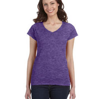 Gildan SoftStyle® Ladies' 4.5 oz. Junior Fit V-Neck T-Shirt