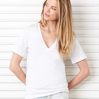 Canvas Unisex Jersey Deep V-Neck T-Shirt