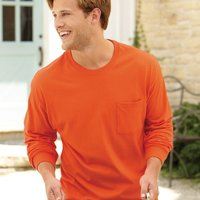 Tagless Long Sleeve T-Shirt with a Pocket