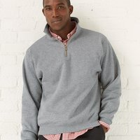 SUPER SWEATS Quarter-Zip Cadet Collar Sweatshirt