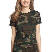 District Made Ladies Perfect Weight ® Camo Crew Tee
