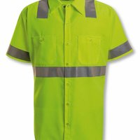 High Visibility Safety Short Sleeve Work Shirt