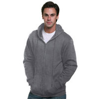 Bayside Adult Hooded Full-Zip Fleece