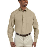 Harriton Men's Tall 3.1 oz. Essential Poplin