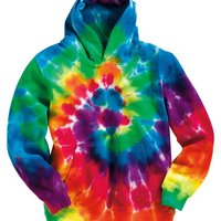 Youth Multi-Color Swirl Hooded Sweatshirt