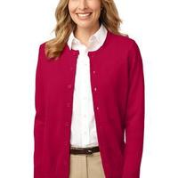 Ladies Value Jewel Neck Cardigan Sweater