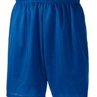 "Adult Tricot-Lined 7"" Mesh Shorts"