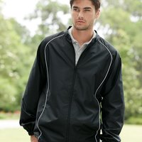 Poly Dobby Full-Zip Jacket