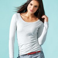 Next Level Ladies' Triblend Long Sleeve Scoop
