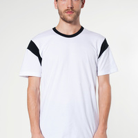 2430 Fine Jersey Contrast Inset S/S T-Shirt