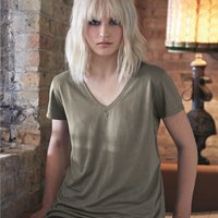 Women's Cotton Modal Everyday V-Neck T-Shirt