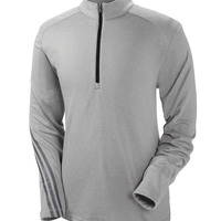 Adidas Men's Heather 3-Stripes 1/4-Zip Fleece