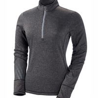 Adidas Ladies' Heather 3-Stripes 1/4-Zip Fleece