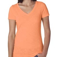 Next Level Ladies' Slub Crossover V-Neck