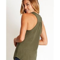 Women's CVC Gathered Racerback Tank