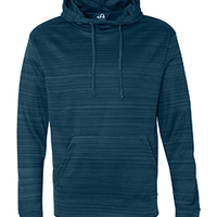 Adult Odyssey Striped Poly Fleece Pullover Hood