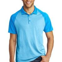 ® PosiCharge ® RacerMesh ® Raglan Heather Block Polo
