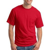 Hanes Beefy T ® 100% Cotton T Shirt with Pocket