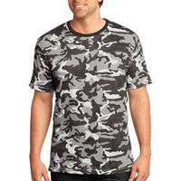 District Made Mens Perfect Weight ® Camo Crew Tee