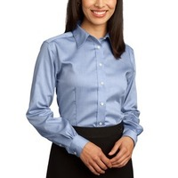 Ladies Non Iron Pinpoint Oxford Shirt