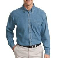 Tall Long Sleeve Denim Shirt