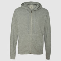 Vintage Marled French Terry Full-Zip Hood