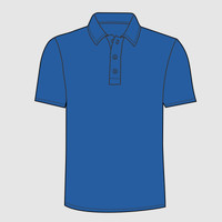 Adult Color Block Polo with Knit Collar
