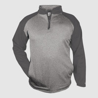 Badger Adult Sport Heather 1/4-Zip Fleece