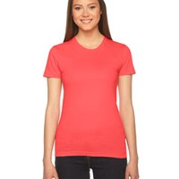American Apparel Ladies Fine Jersey Tee