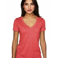 Next Level Ladies' Triblend Deep V-Neck T-Shirt