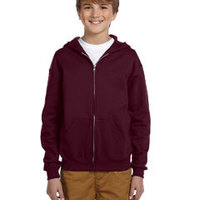 Jerzees Youth 8 oz., 50/50 NuBlend® Fleece Full-Zip Hoodie