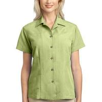 Ladies Patterned Easy Care Camp Shirt