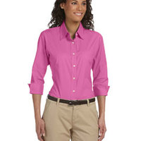 Ladies' Three-Quarter Sleeve Stretch Poplin Blouse