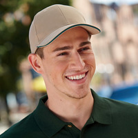 Brushed Twill Structured Sandwich Cap