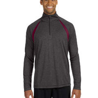 for Team 365 Men's Quarter-Zip Lightweight Pullover with Insets