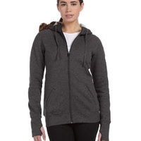 Ladies' Performance Fleece Full-Zip Hoodie with Runner's Thumb