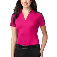 Ladies Silk Touch™ Performance Colorblock Stripe Polo