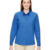 Ladies' Align Wrinkle-Resistant Cotton Blend Dobby Vertical Striped Shirt