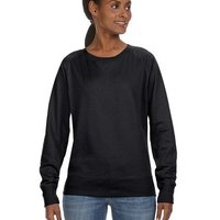 LA T Ladies Lightweight French Terry Slouchy Pullover