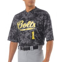 Adult Camo 2-Button Henley