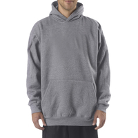 Adult Combed Ring-Spun Blended CVC Fleece Hooded Sweatshirt