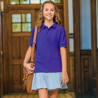 ® DryBlend® Youth Double Piqué Polo