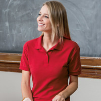 ® DryBlend® Ladies' Double Piqué Polo
