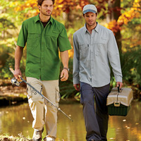 Adult Catch Short-Sleeve Fishing Shirt