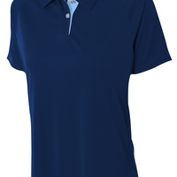 Ladies' Interlock Contrast Polo
