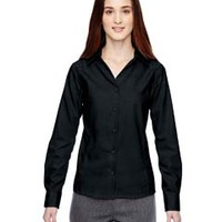 Ladies' Precise Wrinkle-Free Two-Ply 80's Cotton Dobby Taped Shirt