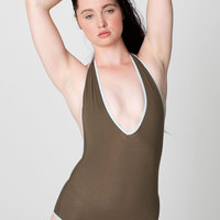 RSA8312 Cotton Spandex Jersey Halter One-Piece
