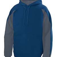 Youth Cotton/Poly Athletic Fleece Hoody with Contrast Inserts