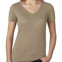 Ladies' Poly/Cotton V-Neck Tee